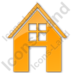 House Plain Orange Icon, PNG/ICO, 256x256