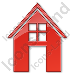 House Plain Red Icon