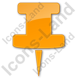 Knob Plain Orange Icon