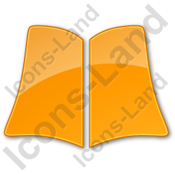 Library Book Plain Orange Icon