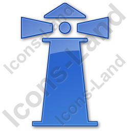 Lighthouse Plain Blue Icon