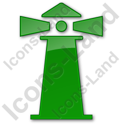 Lighthouse Plain Green Icon