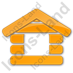 Log Cabin Plain Orange Icon