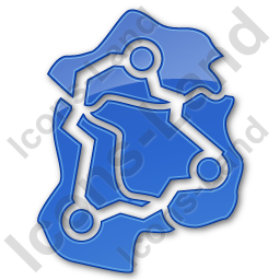 Map Roads Plain Blue Icon