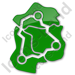Map Roads Plain Green Icon