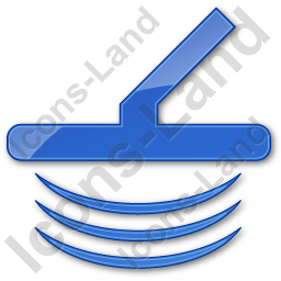Metal Detector Plain Blue Icon