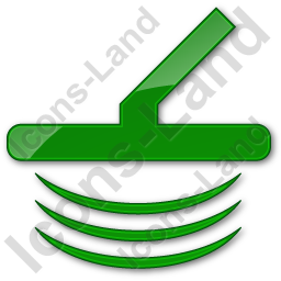 Metal Detector Plain Green Icon