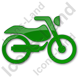 Motorcycle Plain Green Icon, PNG/ICO, 256x256
