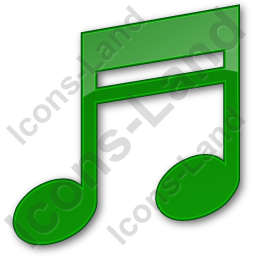 Music Plain Green Icon, PNG/ICO, 256x256