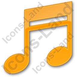 Music Plain Orange Icon, PNG/ICO, 256x256
