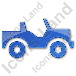 Off Road Vehicle Plain Blue Icon