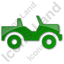 Off Road Vehicle Plain Green Icon, PNG/ICO, 256x256