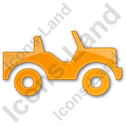 Off Road Vehicle Plain Orange Icon, PNG/ICO, 256x256