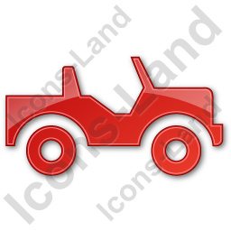 Off Road Vehicle Plain Red Icon, PNG/ICO, 256x256