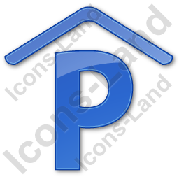 Parking P Covered Plain Blue Icon