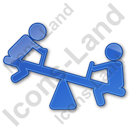 Playground Kids Plain Blue Icon, PNG/ICO, 256x256