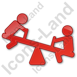 Playground Kids Plain Red Icon