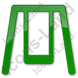 Playground Swing Plain Green Icon