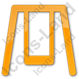 Playground Swing Plain Orange Icon