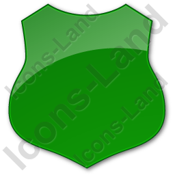 Police Badge Plain Green Icon
