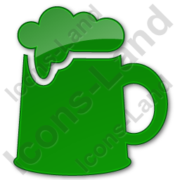 Pub Plain Green Icon, PNG/ICO, 256x256