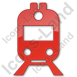 Railway Station Plain Red Icon, PNG/ICO, 256x256