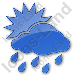 Rain Occasional Plain Blue Icon