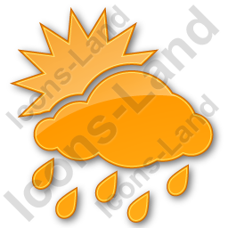 Rain Occasional Plain Orange Icon