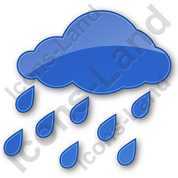 Rain Plain Blue Icon, PNG/ICO, 256x256