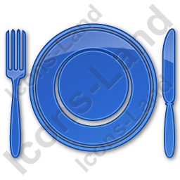 Restaurant Tableware Plain Blue Icon