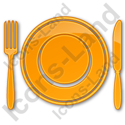 Restaurant Tableware Plain Orange Icon, PNG/ICO, 256x256