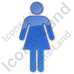 Restroom Women Plain Blue Icon