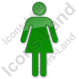 Restroom Women Plain Green Icon