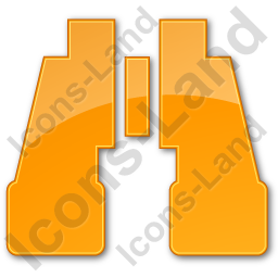 Search Plain Orange Icon