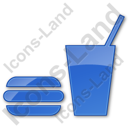 Snack Bar Plain Blue Icon, PNG/ICO, 256x256