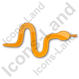 Snake Plain Orange Icon