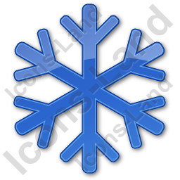Snow Plain Blue Icon, PNG/ICO, 256x256
