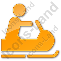 Snowmobiling Plain Orange Icon, PNG/ICO, 256x256