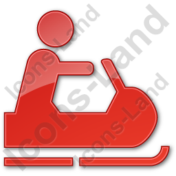 Snowmobiling Plain Red Icon
