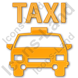 Taxi Plain Orange Icon, PNG/ICO, 256x256