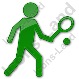 Tennis Player Plain Green Icon, PNG/ICO, 256x256