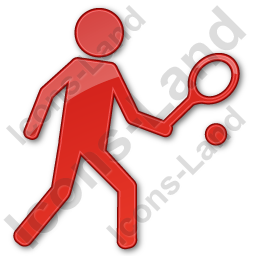 Tennis Player Plain Red Icon, PNG/ICO, 256x256