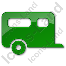 Trailer Plain Green Icon, PNG/ICO, 256x256