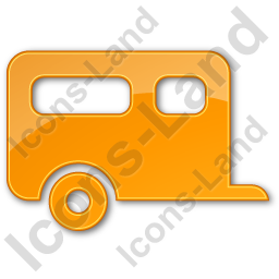 Trailer Plain Orange Icon