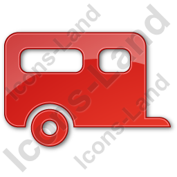 Trailer Plain Red Icon
