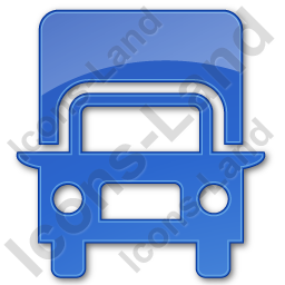 Truck Plain Blue Icon, PNG/ICO, 256x256