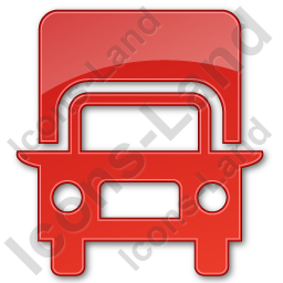 Truck Plain Red Icon, PNG/ICO, 256x256
