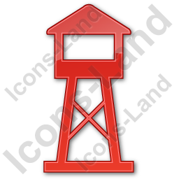 Watchtower Plain Red Icon