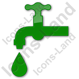 Water Tap Plain Green Icon, PNG/ICO, 256x256