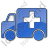 Ambulance Plain Blue Icon